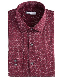 Bar III Men's Slim-Fit Stretch Scattered Dot-Print Dress Shirt, Created for Macy's