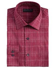 Men's Slim-Fit Performance Stretch Modern Slub Print Dress Shirt, Created for Macy's