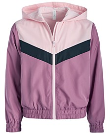 Big Girls Colorblocked Hooded Windbreaker Jacket, Created for Macy's