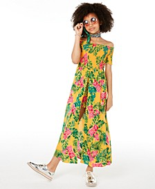 Big Girls Floral-Print Walkthrough Romper Dress, Created for Macy's