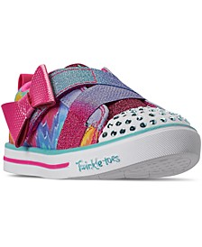 Toddler Girls Twinkle Toes Sparkle Lite Rainbow Cutie Stay-Put Closure Casual Sneakers from Finish Line
