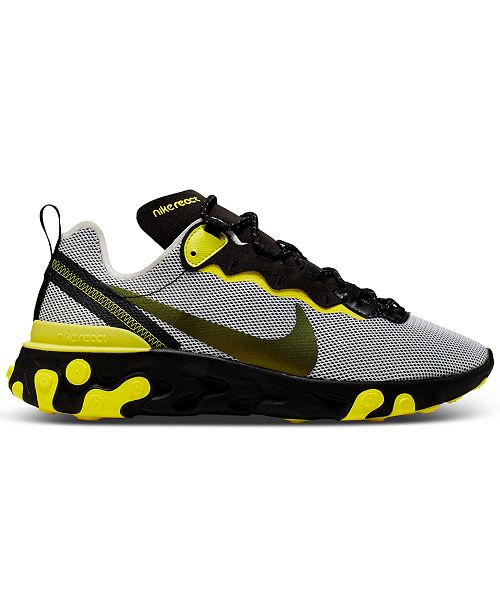 Nike Men's React Element 55 Casual Sneakers from Finish Line