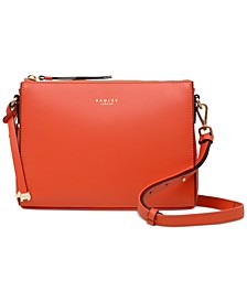 Zip Top Leather Crossbody
