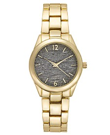 I.N.C. Gold-Tone Bracelet Watch 35mm, Created for Macy's