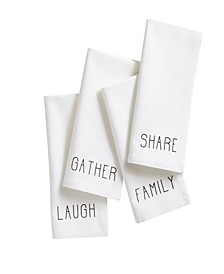 Farmhouse Living Sentiments Napkins - Set of 4