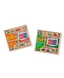 Stamp Set Bundle - Dinosaurs and Vehicles