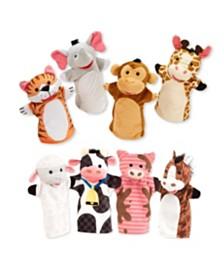 Melissa and Doug Hand Puppet Bundles - Farm & Zoo Friends