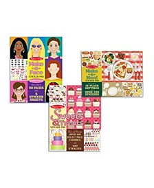 Sticker Pad Bundle - Sweets  Treats, Make-a-Face and Make-a-Meal