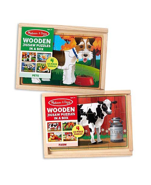 Melissa and Doug Pets  Farm Box Puzzle Bundle