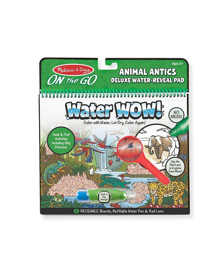 Melissa and Doug - Water Wow Animal Antics Deluxe Water Reveal Pad