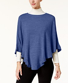 Asymmetric Ruffled Poncho, Created for Macy's