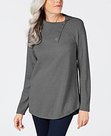 Cotton Envelope-Neck Sweater, Created for Macy's