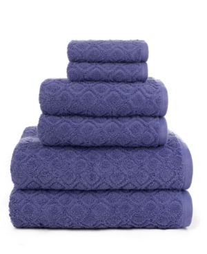 Image of American Dawn Central Park Studio Kingsboro Modified Diamond Textured 6 Piece Bath Towel Set Bedding