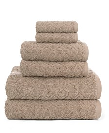 American Dawn Central Park Studio Kingsboro Modified Diamond Textured 6 Piece Bath Towel Set