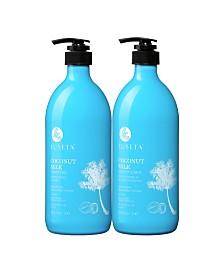 Luseta Beauty Coconut Milk Shampoo & Conditioner Set 67.6 Ounces