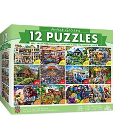Masterpieces Artist Gallery Puzzle 12 Pack