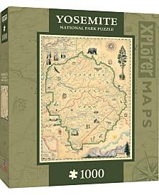 Masterpieces Yosemite 1000 Piece Xplorer Map Puzzle