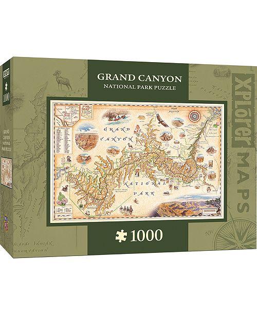 MasterPieces Puzzle Company Masterpieces Grand Canyon 1000 Piece Xplorer Map Puzzle