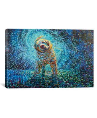 Labrador Jazz by Iris Scott Wrapped Canvas Print - 26
