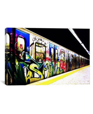 "Train Graffiti by Unknown Artist Wrapped Canvas Print - 26"" x 40"""