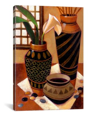 "Still Life With African Bowl by Keith Mallett Wrapped Canvas Print - 40"" x 26"""