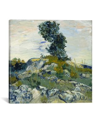 """The Rocks by Vincent Van Gogh Wrapped Canvas Print - 37"""" x 37"""""""
