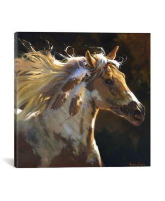 """Spirit Horse by Carolyne Hawley Wrapped Canvas Print - 18"""" x 18"""""""