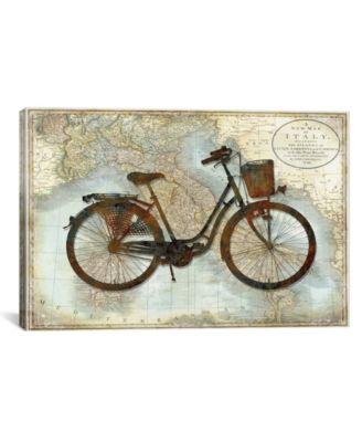 """Bike Italy by Amanda Wade Wrapped Canvas Print - 26"""" x 40"""""""