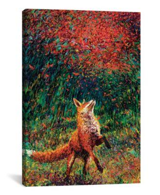 "Fox Fire by Iris Scott Wrapped Canvas Print - 40"" x 26"""