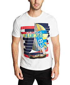 Nautica Men's Blue Sail Boat T-Shirt, Created for Macy's