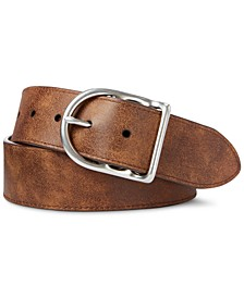Men's Reversible Leather Dress Belt