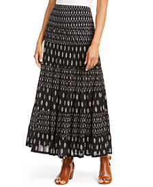 Style & Co Printed Tiered Skirt, Created for Macy's