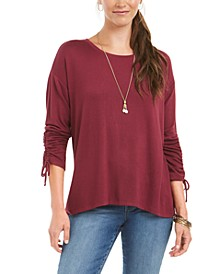 Drawstring Tie-Cuff Top, Created for Macy's