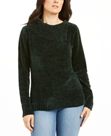 Karen Scott Cowlneck Chenille Sweater, Created for Macy's