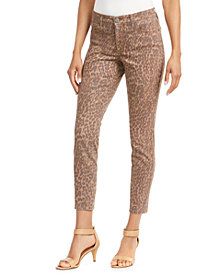Style & Co Curvy-Fit Skinny Printed Jeans, Created for Macy's