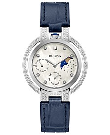 Women's Rubaiyat Blue Leather Strap Watch 35mm