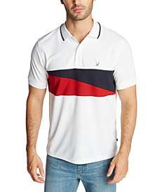 Men's Blue Sail Classic-Fit Diagonal Flag Polo Shirt, Created for Macy's