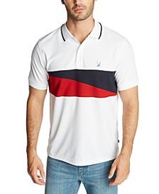 Men's Blue Sail Classic-Fit Diagonal Flag Polo Shirt, Created for Macy's