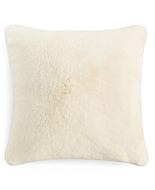 """Faux Fur 20"""" x 20"""" Decorative Pillow, Created for Macy's"""