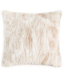 """Textured Faux Fur 20"""" x 20"""" Decorative Pillow, Created for Macy's"""