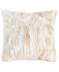 "Martha Stewart Collection Textured Faux Fur 20"" x 20"" Decorative Pillow, Created For Macy's"