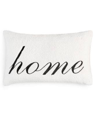 """Sherpa Word 24"""" x 16"""" Decorative Pillow, Created for Macy's"""