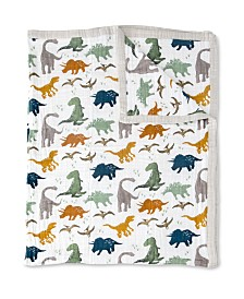 Little Unicorn Dino Friends Cotton Muslin Big Kid Quilt