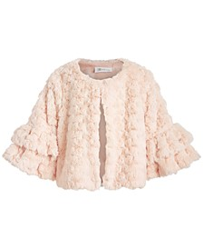 Big Girls Ruffled Faux-Fur Jacket