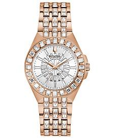 Bulova Women's Phantom Rose Gold-Tone Stainless Steel Bracelet Watch 32.5mm