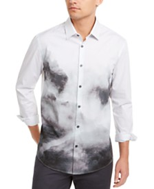 Alfani Men's Foggy Mountain Print Shirt, Created for Macy's