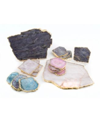 Pink Agate Coasters, Set of 4