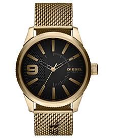 Men's Rasp NSBB Gold-Tone Stainless Steel Mesh Bracelet Watch 46mm