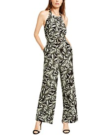 Desert Palms Printed Jumpsuit