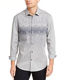 Men's Foggy Mountain Print Shirt, Created for Macy's